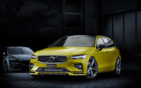 HEICO SPORTIV Volvo Tuning V60 (225) yellow, front (1)